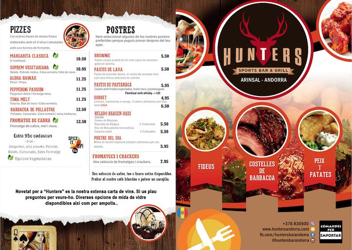 hunters menu catalan 1