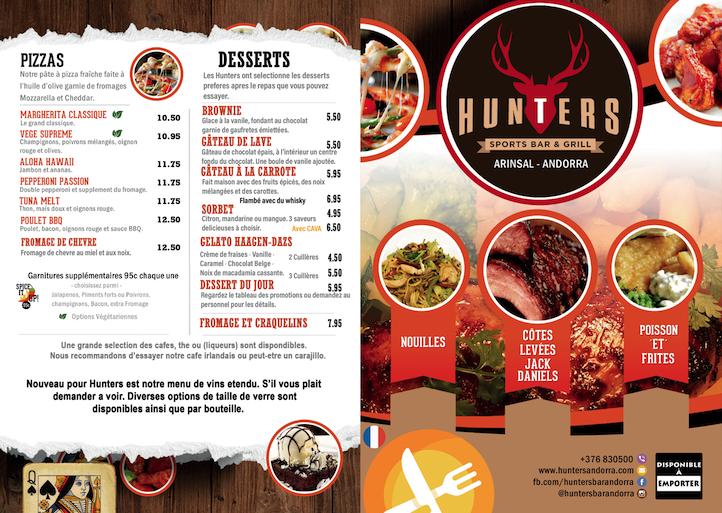 hunters menu france 1