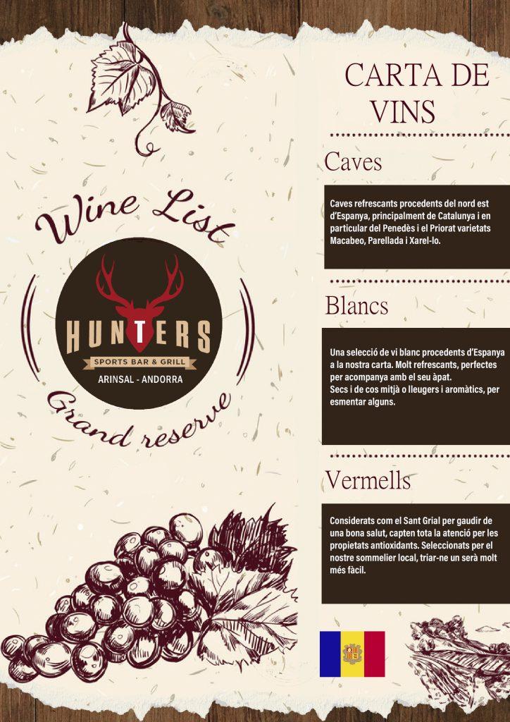 hunters andorra wine list catalan 2